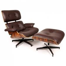authentic eames lounge chair. Authentic Eames Lounge Chair : Fancy With Brown Fabric Leather Cushion And Chic I