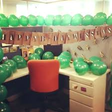 Office Birthday Decoration Cool Decorations For Creative Cubicle