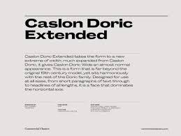 Commercial Classics Catalog Caslon Doric Collection