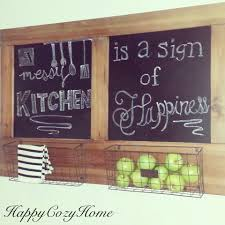 Chalkboard In Kitchen Rustic Chalkboard For The Kitchen Happy Cozy Home