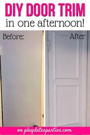 interior door trim a quick and easy diy