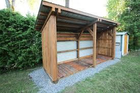 timber frame lean to shed craftsman