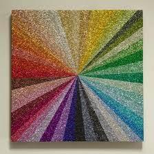 glitter wall art glitter crafts