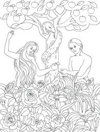 Adam And Eve Coloring Pages And Eve Coloring Pages For Preschool