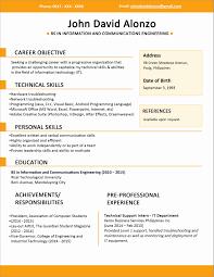 Cv Resume Format Sample Fresh Resume Formats Pick The Best One In