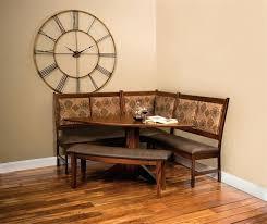 corner nook dining set corner kitchen nook set with half round table and gloss varnished wood corner nook dining set