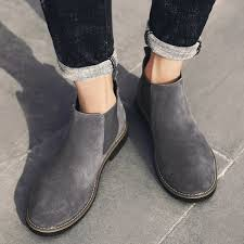 men chelsea boots ankle boots fashion mens male brand leather quality slip on motorcycle boots man