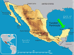 download map of mexico yucatan peninsula  major tourist