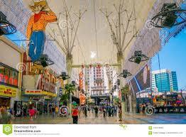 Las Vegas Light Show 2018 Las Vegas Nv Usa June 15 2018 Tourists Outside The