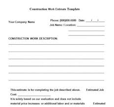 Construction Employee Review Template 8 Best Free Construction Estimate Templates