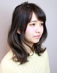 大人可愛い黒髪暗髪ひし形ミディhi 312 ヘアカタログ髪型ヘア