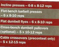 Arnold Exercise Chart Training Chest With Arnold Schwarzenegger Body Building