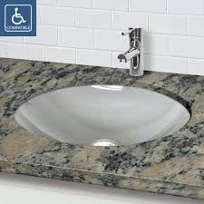 oval undermount bathroom sinks. Wonderful Undermount Decolav 1129U Series 12Mm Tempered Glass Oval Undermount Bathroom Sink  Pertaining To Sinks With T