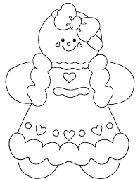 Gingerbread Baby Girl Coloring Pages Coloring Printable