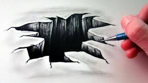 how to draw 3d drawings on paper step by step how to draw 3d hole step