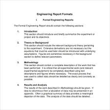 Engineering Technical Report Template 16 Sample Engineering Reports Pdf Word Pages