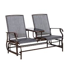 outside glider chair. Fine Glider Amazoncom  Outsunny 2 Person Outdoor Mesh Fabric Patio Double Glider Chair  WCenter Table Garden U0026 And Outside D