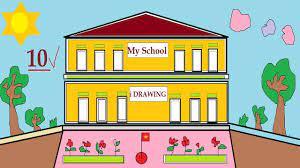 Vẽ tranh Ngôi trường mơ ước của em - Tranh vẽ về ngôi trường mơ ước của em