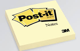 [Picture of 3in square Post It Note Pad]