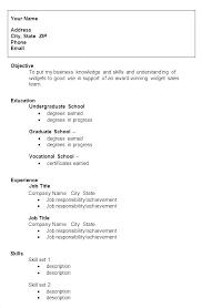 Undergraduate Template Cv Templates Free Resume Doc Student