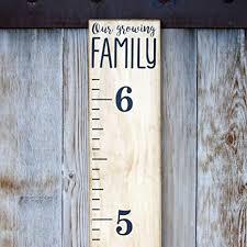Little Acorns Diy Vinyl Growth Chart Ruler Decal Kit Our Growing Family Modern