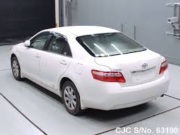 2008 Toyota Camry White for sale | Stock No. 63190 | Japanese Used ...