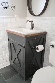 Bathroom sink Farmhouse Diy Farmhouse Bathroom Vanity Pinterest Diy Farmhouse Bathroom Vanity Shantys Tutorials Bathroom