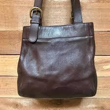 Vintage Coach Waverly Soho Tote Vtg Dark Brown Leather Designer Handbag  Made in USA 4157 MIKYTFWXRF