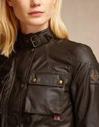 belstaff jackets green women regimental pendle in grain leather melton 2h311j6