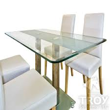 com rectangle glass table top 3 8 inch thick bevel polished edge tempered industrial scientific