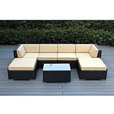 Amazon Ohana 7 Piece Outdoor Wicker Patio Furniture