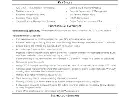 Medical Billing Coding Resume Sample And Resumes Spacesheep Co