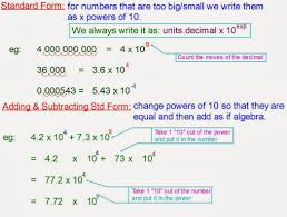 mr rouches maths scientific notation aka standard form to verte standard form form large