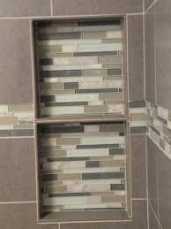 Recessed Shelves Bathroom Double Shelf Recessed Shelf Glass Tile Decorative Border