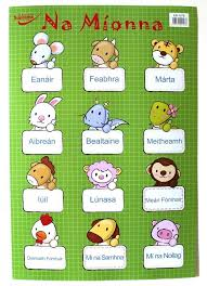 Wall Chart Gaeilge Months Of The Year