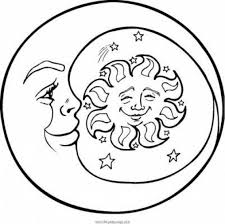 Small Picture Coloring Pages Earth Moon And Sun Coloring Page Free Printable