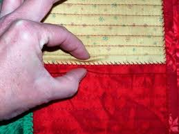 20 best Cotton Theory Quilting images on Pinterest | Quilling ... & Close-up of the fold on these Christmas placemats. This is the Cotton Theory  method which is a quilt-as-you-go. Adamdwight.com