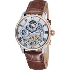 es 8006 08 thomas earnshaw men s rose gold and brown leather thomas earnshaw es 8006 08 longitude silver rose gold brown leather mens