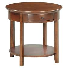 end table cherry round by wood now tables top with white legs