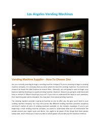 Los Angeles Vending Machines Magnificent Los Angeles Vending Machines