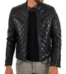 Men Quilted Leather jacket, Black fashion Jacket, Zara, Next ... & Image is loading Men-Quilted-Leather-jacket-Black-fashion-Jacket-Zara- Adamdwight.com