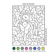 Everyone loves color by numbers, kids and adults alike. Multiplication Color By Number Unicorn Math Coloring Worksheet Sparkling Minds