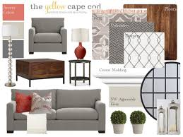Cape Cod Living Room Fascinating Slightly Coastal Gray And Coral Living Room The Yellow Cape Cod