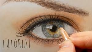 Drawingcolor Tutorial How To Draw Color A Realistic Eye And Eyebrow With