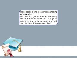 profile essay outline profile essay