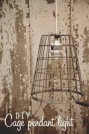 diy cage pendant light now