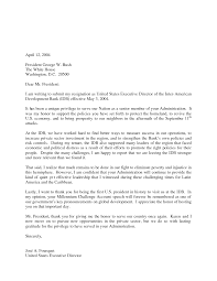 Resignation Letter Resignation Letter To Bank Letters Sample