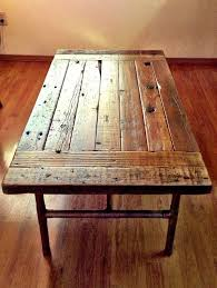 Image Barn Wood Furniture Simple Short Salvaged Wood Dining Tables With Steel Pipe Shape Trestle Pine Wood Reclaimed Dining Table Dining Table Decor Coolhousez Pinterest Best Vintage Stores For The Lovers Of Retro Feeling Projects