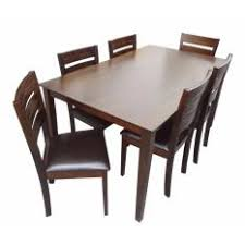 hapihomes hanna 6 seater wood dining set
