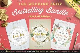 90 gorgeous wedding invitation templates design shack Wedding Invitations Templates For Illustrator preview golden foil wedding invite bundle o (1) wedding invitation templates for adobe illustrator